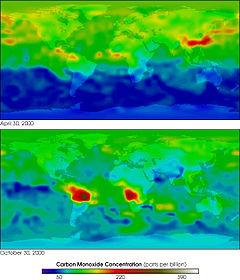 MOPITT 2000 global carbon monoxide
