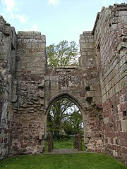 3. Interior of medieval gatehouse.