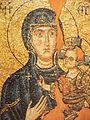 Mosaikikone der Muttergottes Hodgegetria 12 Jh.Hilandar.jpg
