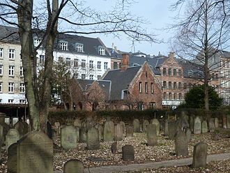Møllegade - No. 12. The Jewish Cemetery with the gatehouse on Møllegade