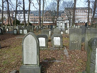 Jewish Northern Cemetery (Copenhagen) - Image: Mosaisk Nordre Begravelsesplads 2