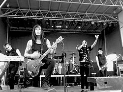 Motionless in White spielen in Las Vegas, Nevada (2011).