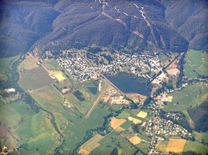Mount Beauty, Victoria - Aerial view