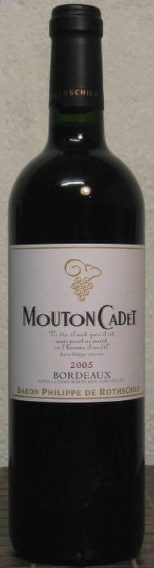Mouton Cadet - A modern bottle of Mouton Cadet Red