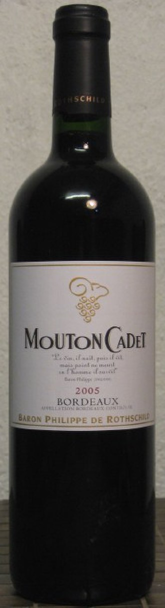 Mouton Cadet - A modern bottle of Mouton Cadet Red