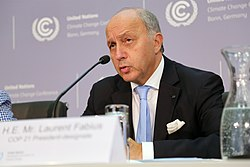 Mr Laurent Fabius, Foreign Minister of France and COP 21 President-designate