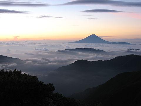 вулкан горы облака туман  № 755059  скачать