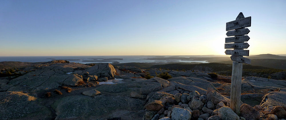 From the summit of Penobscot Mountain toward the Atlantic Ocean