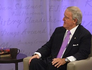 Brian Mulroney at an interview with Heather Re...