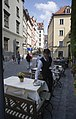 Munich - Waiter preparing a street table - 7642.jpg
