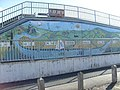 Mural painted on the footbridge in Newtown - geograph.org.uk - 1265995.jpg
