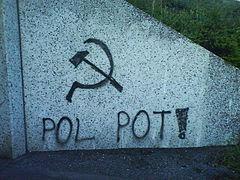 Mural painting celebrating Pol Pot in Sundsvall