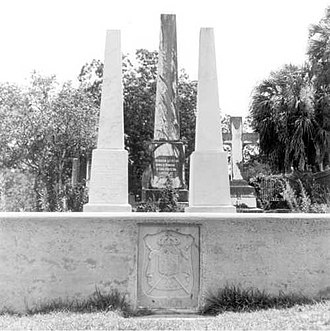 Prince Achille Murat - Graves of Achille and Catherine Murat, Tallahassee, Florida.