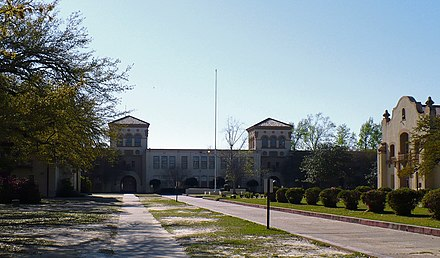 Murphy High School in Midtown, originally Mobile High School. It is one of the seventeen high schools run by the Mobile County Public School System. Murphy High School.jpg