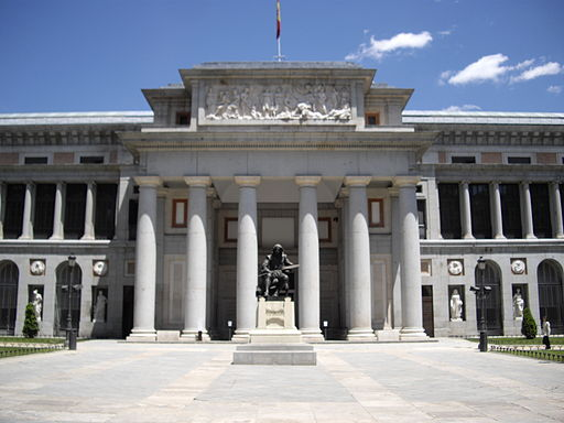 El Prado Museum, Madrid, Spain. Main Entrance