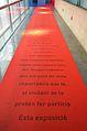 Museu Valencià de la Il·lustració i de la Modernitat de València, catifa d'una exposició.JPG