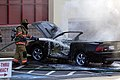 Mustang car fire at CVS on Key West Highway in North Potomac MD July 12 2012 (7575604486).jpg