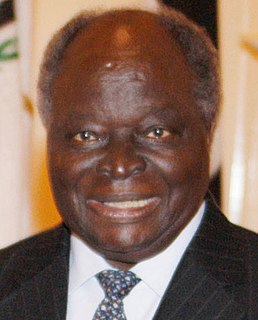 Mwai Kibaki former president of Kenya