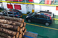 My rental on the Fishnish-Lochaline ferry, Scotland, 15 Sept. 2010 - Flickr - PhillipC.jpg