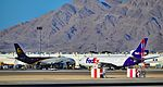 "N129UP UPS 2001 Airbus A300F4-622R C-N 0813 - N318FE Fedex 1979 MCDONNELL DOUGLAS MD-10-30F s-n 46837-282 ""Annibal"" (25779086400).jpg"
