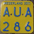 NETHERLANDS 2011 -SCOOTER PLATE - Flickr - woody1778a.jpg