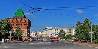 Historic centre of Nizhny Novgorod - Image: NN Minin and Pozharsky Square view 08 2016