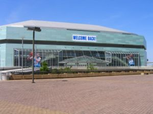 Effect of Hurricane Katrina on the New Orleans Hornets - The New Orleans Arena in May 2006.