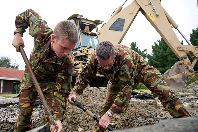 File:NZ Army Engineers repair water mains at Burwood Hospital after Christchurch Earthquake - Flickr - NZ Defence Force.jpg