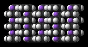 Sodium cyclopentadienide - Image: Na Cp xtal 3D SF B