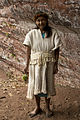 Na Silvia, an spiritual leader of the Pai Tavytera indians near rock art of Amambay.jpg