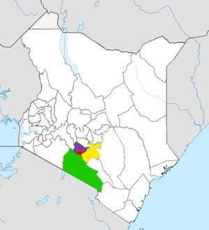 Nairobi Metro location map