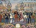 Napoléon III recoit les souverains et les personnages illustres qui ont visité l'exposition universelle de 1867.jpg