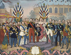 "Exposition Universelle (1867) - Napoleon III receives the rulers and illustrious men who visited the 'Exposition universelle of 1867""."