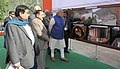Narendra Modi at the exhibition detailing the 450 MW Baglihar Hydro Electric Project Stage-II, at Chanderkote, Ramban, in Jammu and Kashmir. The Chief Minister of Jammu and Kashmir, Shri Mufti Mohammad Sayeed.jpg