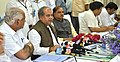 Narendra Singh Tomar addressing the media after visiting the Visvesvaraya Iron& Steel Plant unit of Steel Authority of India Limited, in Bhadravati, Karnataka. The Union Minister for Chemicals and Fertilizers.jpg
