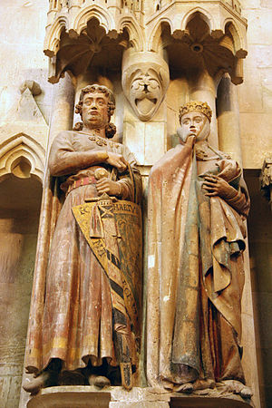 Naumburg Cathedral - Margrave Ekkehard II and Uta, two of the twelve donor portraits