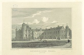 Rushbrooke Hall - Rushbrooke Hall drawn in 1818.