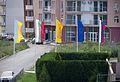 Nearby hotel- politically correct flag's arrangement - в соседнем отеле политкорректно развесили флаги )) (14234221397).jpg