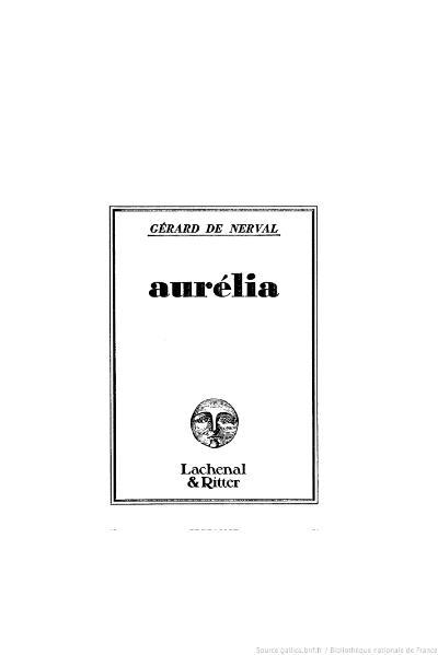 File:Nerval - Aurélia, Lachenal & Ritter, 1985.djvu
