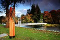 Ness islands footbridge and sculpture. - geograph.org.uk - 1029059.jpg
