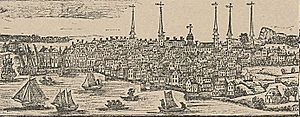 New Haven, Connecticut - New Haven as it appeared in a 1786 engraving