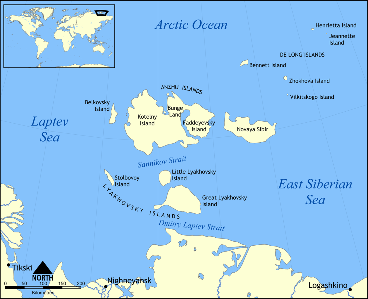New Siberian Islands Wikipedia - Islands map