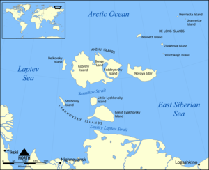 New Siberian Islands - Location of the New Siberian Islands