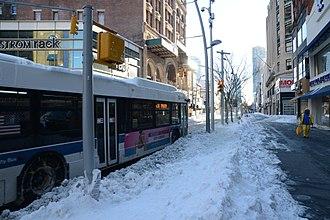 DeKalb Avenue Line - A B38 bus on Fulton Street