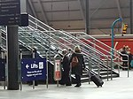 New luggage barrier at Leeds railway station (geograph 4835004).jpg