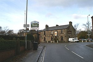 Haigh, Greater Manchester - Image: New sign marking the eastern boundary of Haigh geograph.org.uk 1045584