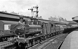 GWR 5700 Class - 4634 at Newport High Street Station in 1954