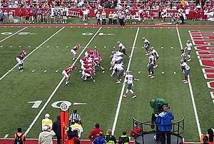 2014 Arkansas Razorbacks football team - Arkansas drives toward the end zone
