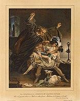Nicolas Eustache Maurin - La Esmeralde, Phoebus et Claude Frollo.jpg