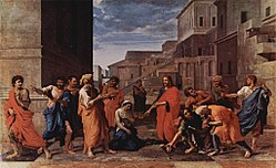 Nicolas Poussin: Christ and the Woman Taken in Adultery